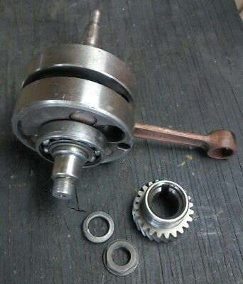 1977 1978 Yamaha DT250 Crankshaft Crank Shaft w/ Primary Gear