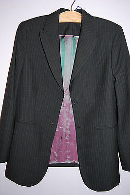 NWT Crave UK Maternity Pinstripe Suit Jacket - Medium (US) SIze 8