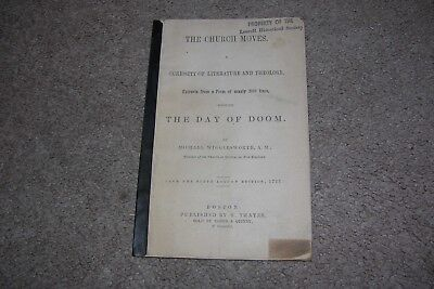 Day of Doom by Michael Wigglesworth, Church Moves Literature/Theology