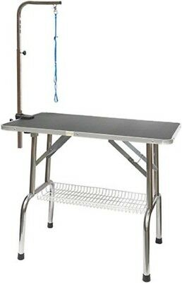 Professional Stainless Steel Pet Dog Cat Grooming Table Top W/ Arm 30""
