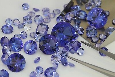 Clearance SALE 2 TANZANITE Round  AAAAA C Z gem Stones ~ SIZES~ 5MM ~TO 10MM