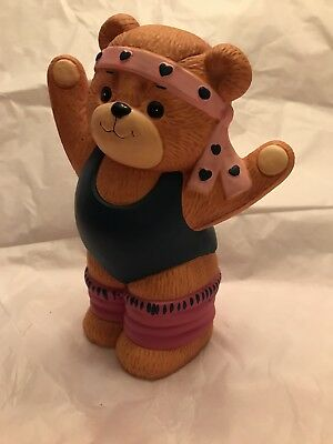 Lucy & Me Exercise Girl Bear Bank; FREE PRIORITY SHIPPING!!