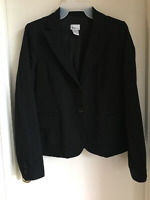 Mimi Maternity Black Lined 2 Button Blazer Career Jacket Size Medium