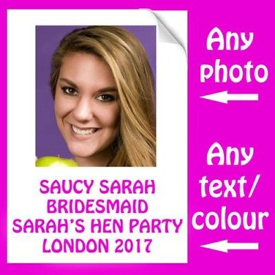 Custom Personalised Iron On Transfer For Hen Party Bridesmaid Her T-Shirt