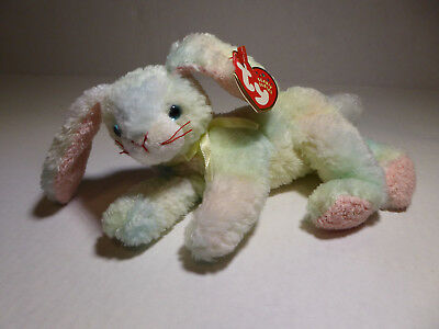 "TY Beanie Babies Cottonball Bunny Rabbit (2001) 8"" Plush w/ All Tags Very Good"