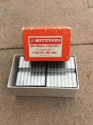 Mitutoyo 181-941 Universal V-Block For Magnetic Chuck Made In Usa