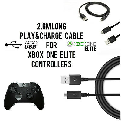 2.6M Long USB Play and Charge Cable For Xbox One ELITE Controller Pad Gamepad