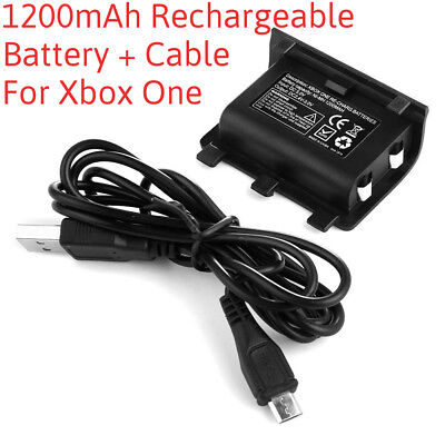 Rechargeable 1200mAh Battery with Free Play Charge Cable for Xbox One Controller