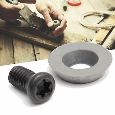 10mm Round Carbide Insert Cutter with Screws for Woodworker Wood Turning Tool