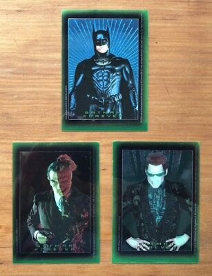 1995 Topps Batman Forever Stickers - Lot of 3 Chromium Chase Stickers