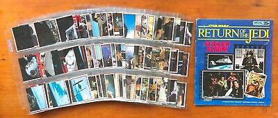 1983 Topps Return of the Jedi Stickers - Set of 180 Stickers + Unused Album