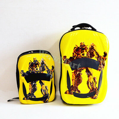 New Deluxe Kid Wheeled Rolling Suitcase Travel Bag Luggage Trolley Bumblebee