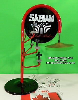 Sabian Dealer 7 Splash Cymbal TREE Stand Vintage 1993 Rare Collectible Drum Gift