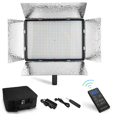 900 LED Bi-Color Light Panel Stand Kit Photography Video Studio Lighting Dimmer