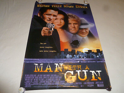 Vintage A Man With A Gun Movie Poster One Side 1994 Jennifer Tilly 27 X 40