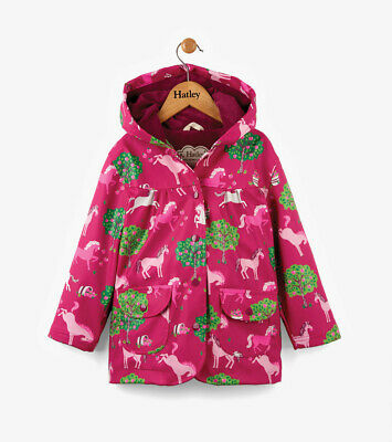 NEW Pony Orchard on Pink Girls Raincoat By Hatley