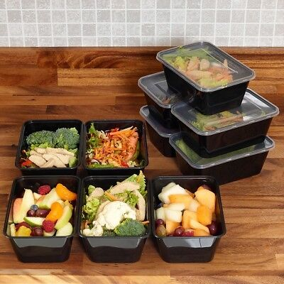 Microwavable 1-3Compartment Plastic Meal Prep Bento Lunch Box Food Container UK
