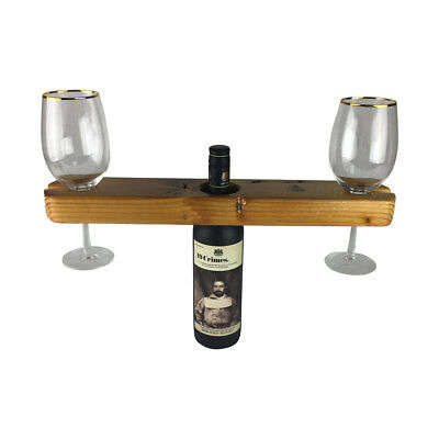 The Hercules Wine Glass Holder 100% Reclaimed Aussie Timber