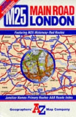 Main Road Map of London by geographers` a-z map company ltd. Sheet map, folded