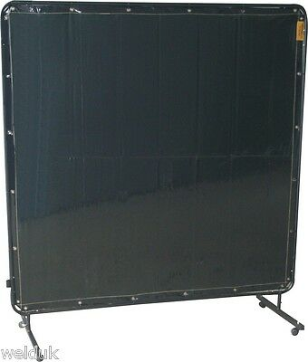 Portable Welding Screen Frame & Curtain 1.8 x 2.4 6ft x 8ft on Castors E86L