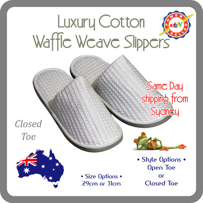 Luxury Waffle Hotel Slippers, Guest Slippers Fit size 8 to 10 (29 cm or 31 cm)