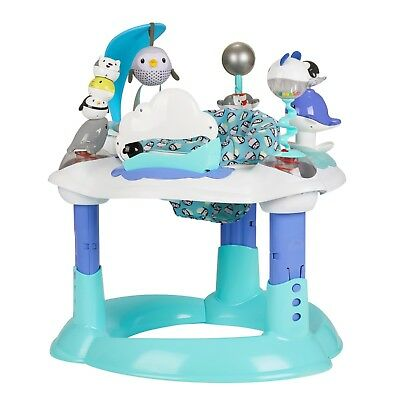 Evenflo Exersaucer Bounce and Learn, Polar Playground Adjustable height SAFETY