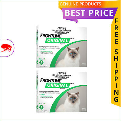 FRONTLINE ORIGINAL for Cats Flea treatment 8 Doses (4 Pack X 2) GREEN Pack