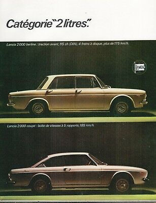 ▬► Publicité French Print advertising - Voiture Car - LANCIA 2000 Berline coupé