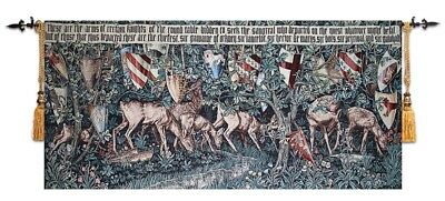 BELGIAN TAPESTRY VERDURE WILLIAM MORRIS & EDWARD BURNE JONES 57x136cm