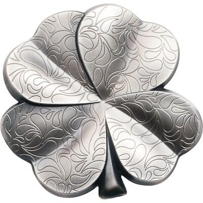 Silver Fortune 1oz Pure Silver Coin Four Leaf Clover Special Shape $5 Palau 2018
