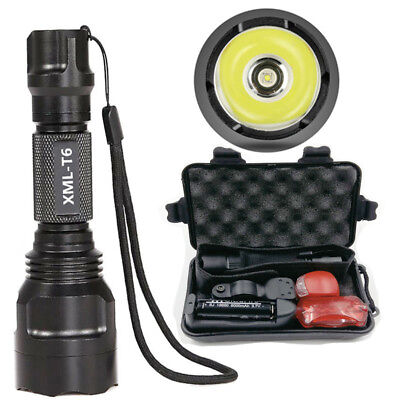 Powerful CREE T6 Rechargeable LED Flashlight Torch Bicycle Light 18650 Boxed
