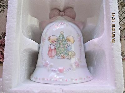 "1997 Precious Moments Porcelain Christmas Bell By Enesco""avon Collectibles Nib"