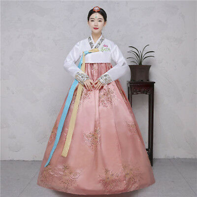 Womens Traditional Korea Hanbok Costume National Ethnic Dance Hanbok Dress