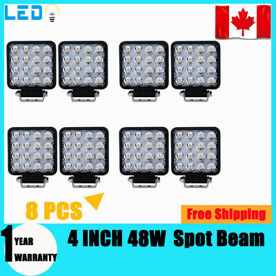 10X 48W 12V LED Work Light Flood Light OffRoad ATV SUV Boat Jeep Truck 4Inch