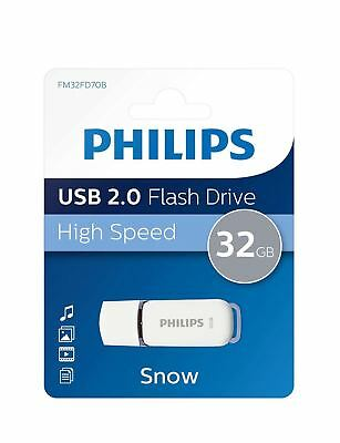 Philips 32GB Snow Series USB 2.0 Flash Drive Memory Stick