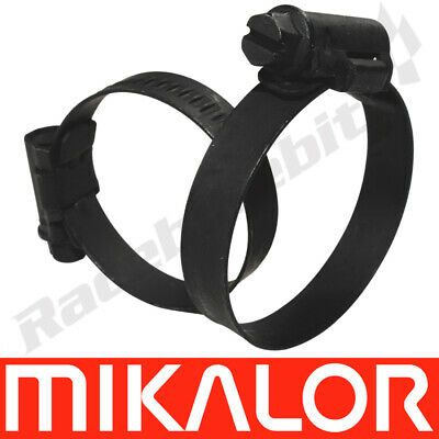 Pack of 4 Black Mikalor W3 Stainless Steel Worm Drive Motorcycle Car Hose Clamps