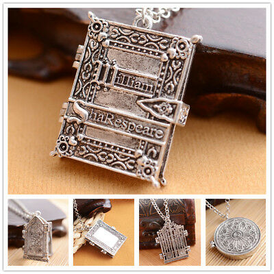 Fashion Gothic Photo Frame Necklace Openable Pendant Accessories Locket Charm