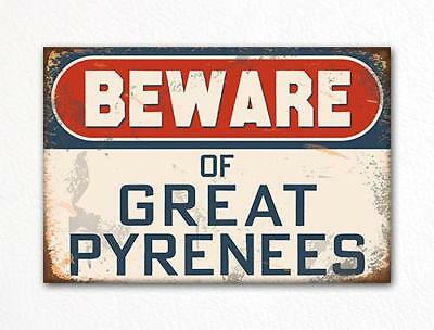 Beware of Great Pyrenees Dog Breed Cute Fridge Magnet