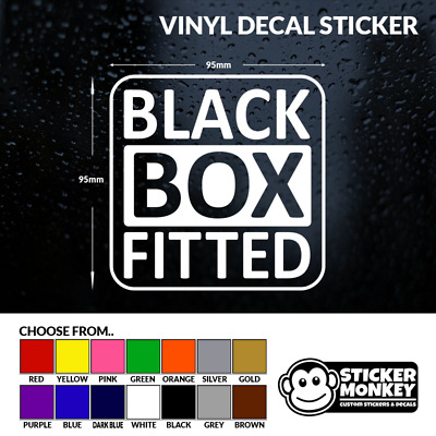 BLACK BOX FITTED New/Young Driver Car/Window/Bumper Sticker, Any Colour