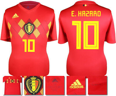 5b474667b E. HAZARD 10 - Belgium Home 2018 World Cup Adidas Shirt Ss   Adults ...