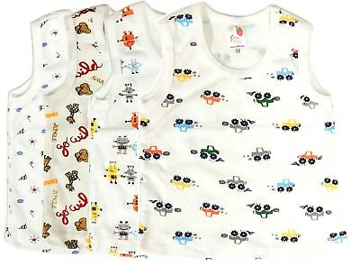 Newborn Baby Boy Clothes Tank Top Set Undershirt Pack Infant 3 6 9 Months t nwt