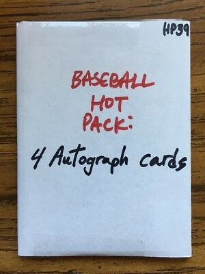 BASEBALL AUTO HOT PACK: 4 Autograph Cards [HP39]