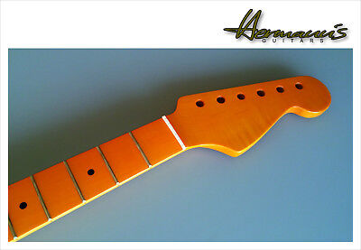Stratocaster Flamed Maple Replacement Neck, Vintage High Gloss Finish, 22 Frets