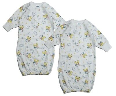 Newborn Baby Unisex 2 Pack Gown Sleeper Set Nightgown Infant Boy Girl 3 Months