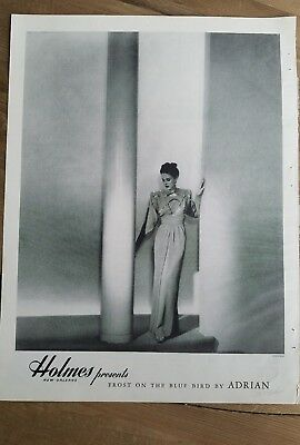 1946 Holmes New Orleans presents women's Adrian evening gown dress fashion ad