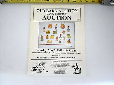 Saturday May 2, 1998 OLD BARN AUCTION Candy Container AUCTION catalog