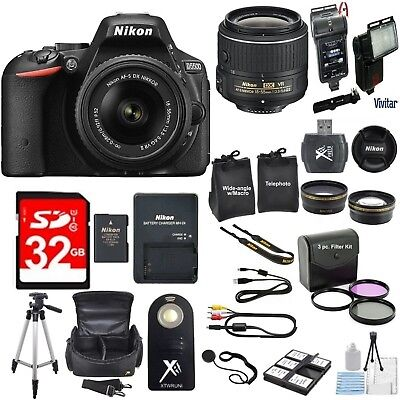 Nikon D5300 24.2 MP CMOS Digital SLR Camera Bundle with 18-55mm VR Lens+EXTRAS!