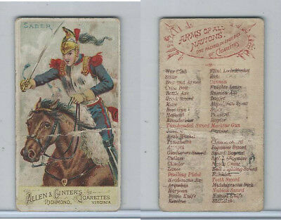 N3 Allen & Ginter, Arms of all Nations, 1887, Saber