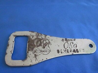 Vintage Metal Bottle Opener Drink O-So Beverages