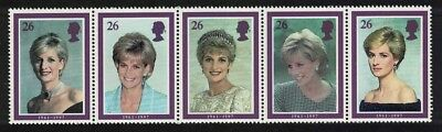 Great Britain Diana Princess of Wales Commemoration 5v Strip SG#2021-2025